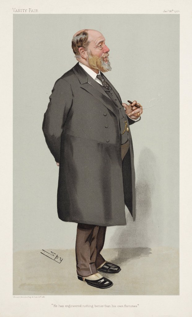 John Wolfe Barry, British civil engineer, 1905. : Stock Photo
