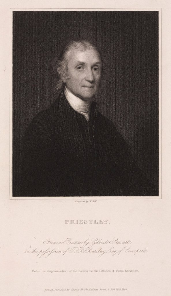 Stock Photo: 1895-22044 Joseph Priestley, English-American theologian and chemist, c 1800.