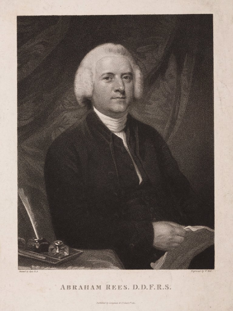 Abraham Rees, English encyclopedist, 1796. : Stock Photo