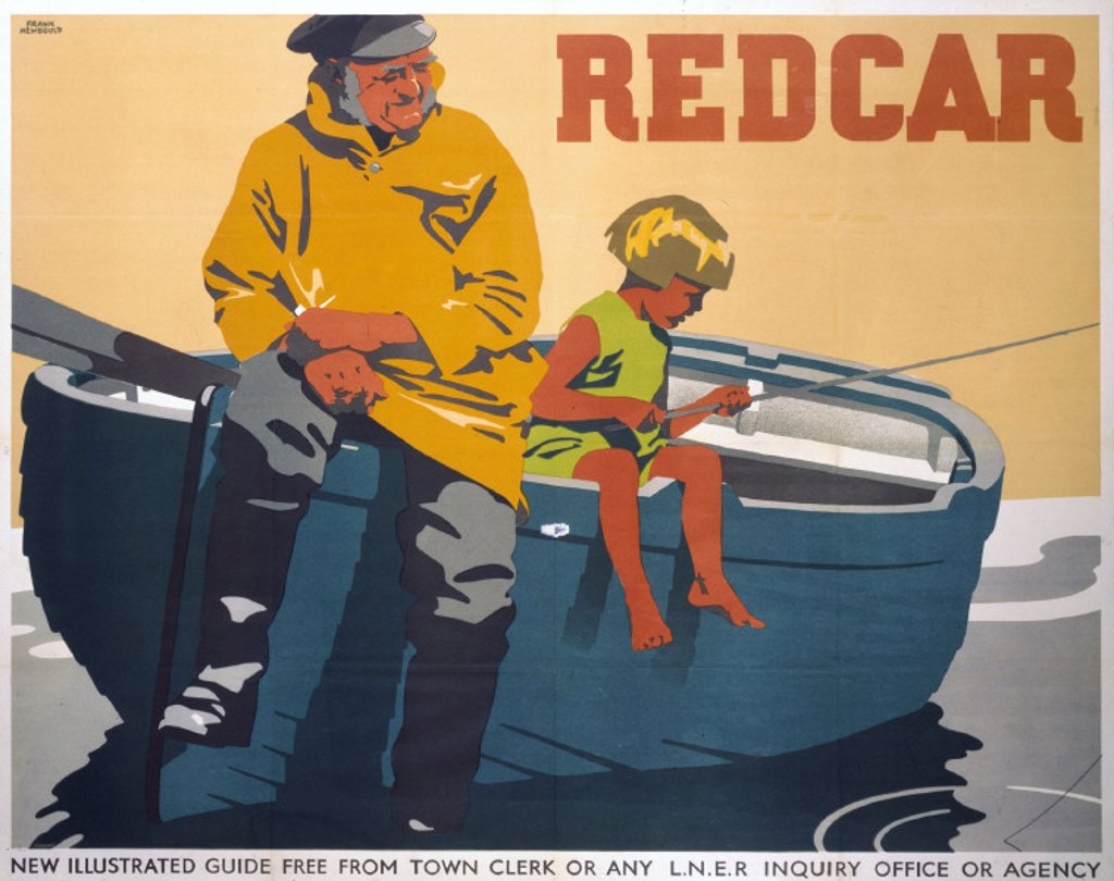 Stock Photo: 1895-2208 ´Redcar', LNER poster, 1932.