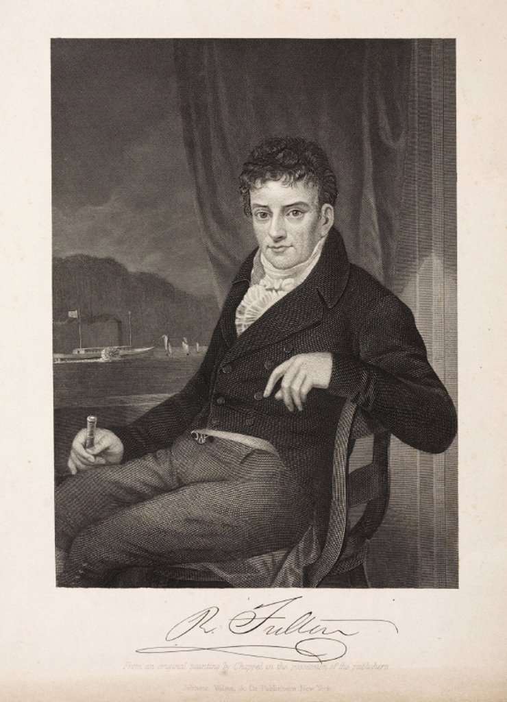 Robert Fulton, American artist and inventor, c 1800. : Stock Photo