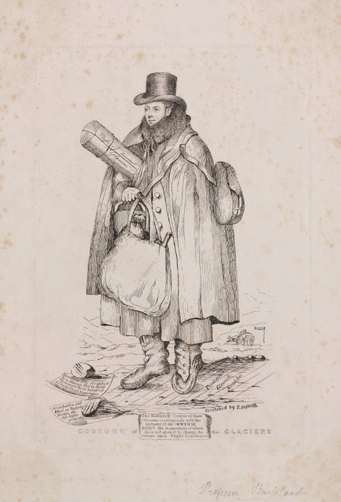 William Buckland, geologist, early 19th century. : Stock Photo