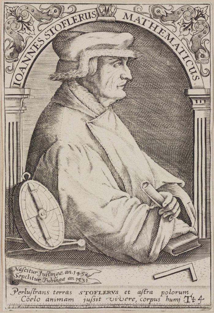 Johannes Stoeffler, German astrologer, 16th century. : Stock Photo