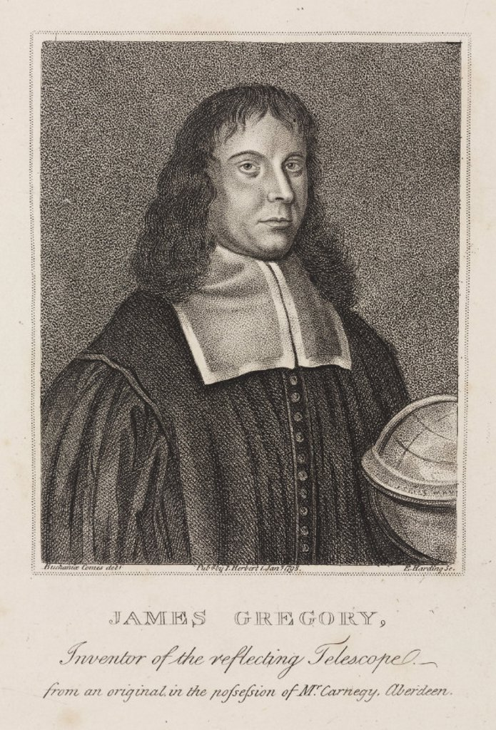James Gregory, mathematician, c 1670. : Stock Photo