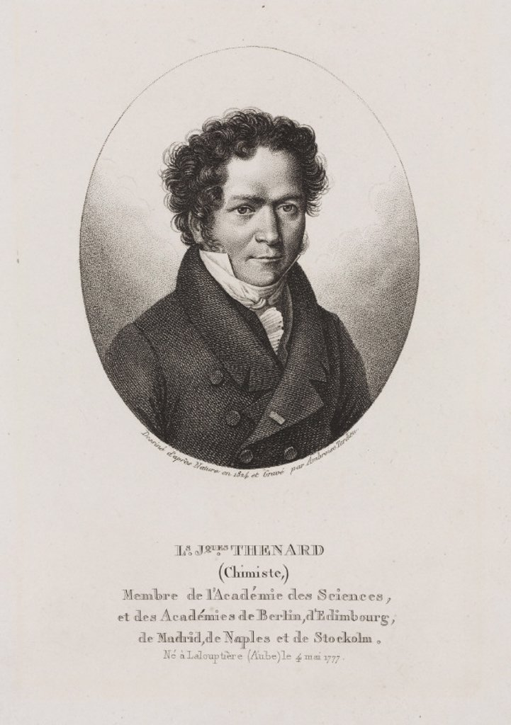 Louis Jacques Thenard, French chemist, 1824. : Stock Photo