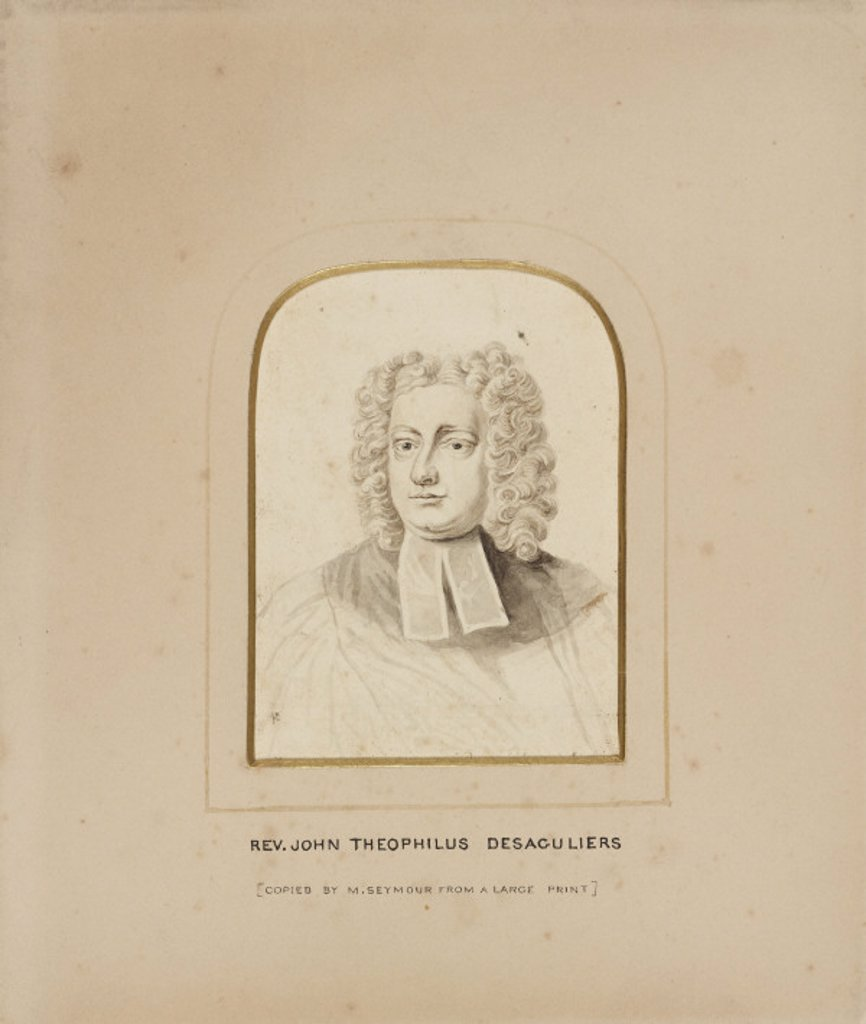 John Theophilus Desaguliers, scientist and inventor, c 1730s. : Stock Photo