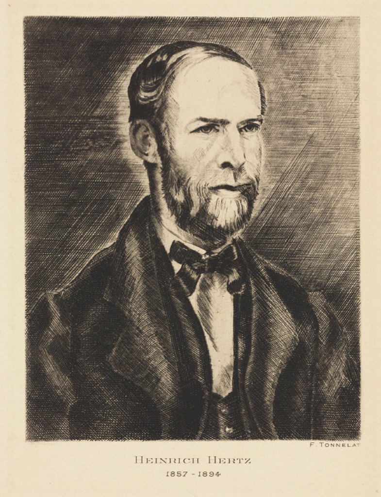 Heinrich Hertz, German physicist, late 19th century. : Stock Photo