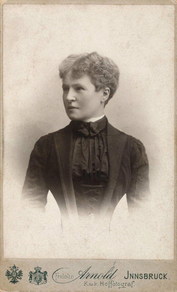Gabrielle Kroupa, 1901. : Stock Photo
