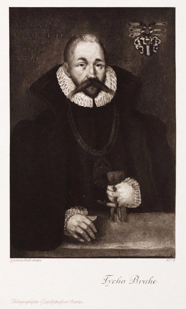 Tycho Brahe, Danish astronomer, late 16th century. : Stock Photo