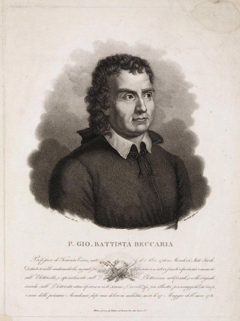 Giambatista Beccaria, Italian clergyman and scientist, 1750s. : Stock Photo