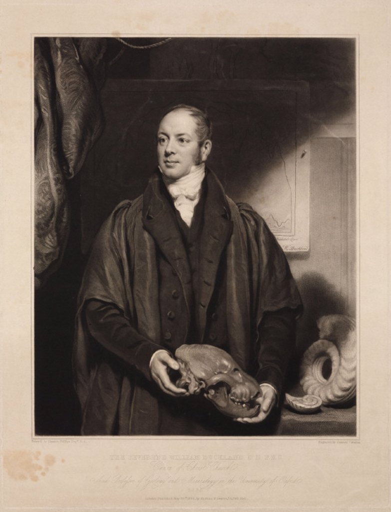 William Buckland, geologist, 1832. : Stock Photo