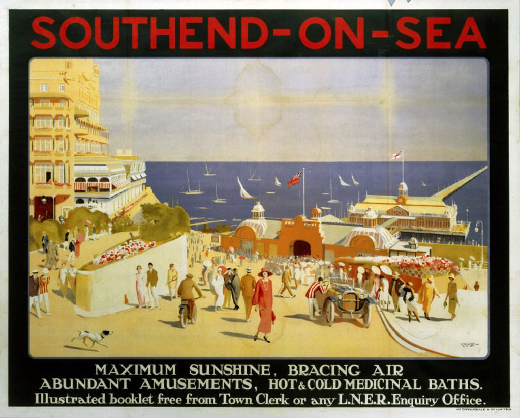 Stock Photo: 1895-2364 ´Southend-on-Sea', LNER poster, 1923-1947.