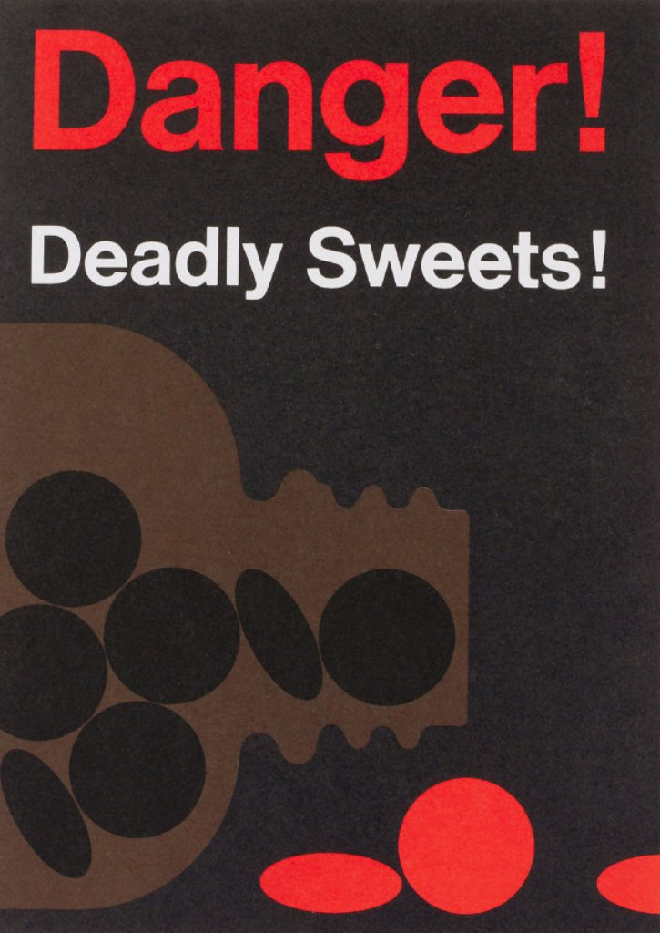 "Stock Photo: 1895-23745 'Danger Deadly Sweet!"" poster, c 1980s."