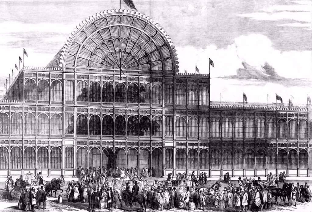 Stock Photo: 1895-23940 Crystal Palace, Hyde Park, London, 1851.