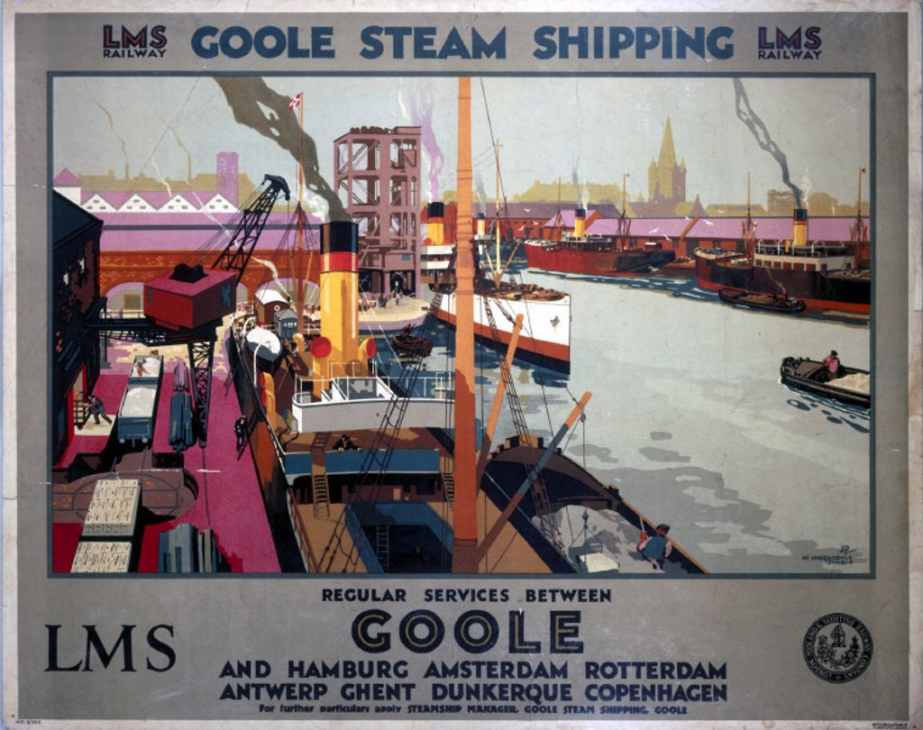´Goole Steam Shipping', LMS poster, 1923-1947. : Stock Photo