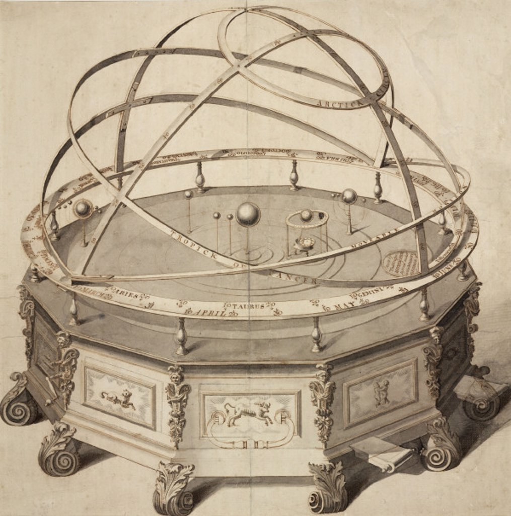 Stock Photo: 1895-24571 'Grand Orrery by Thomas Wright', London, 1715-1728