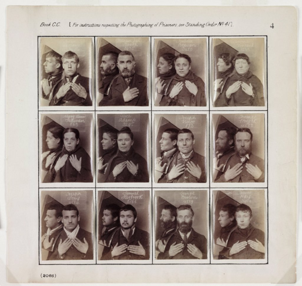 Photographs of prisoners, c 1880. : Stock Photo