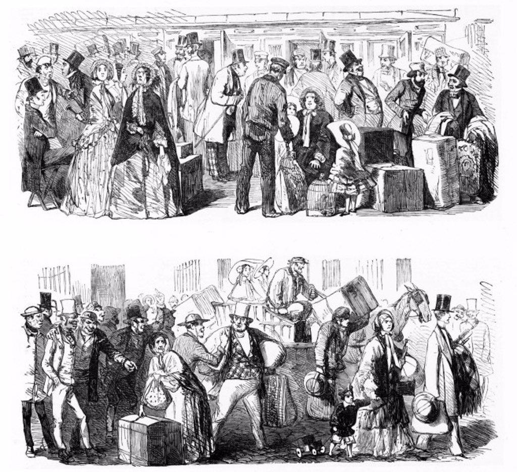 Cab strike, 1853. : Stock Photo