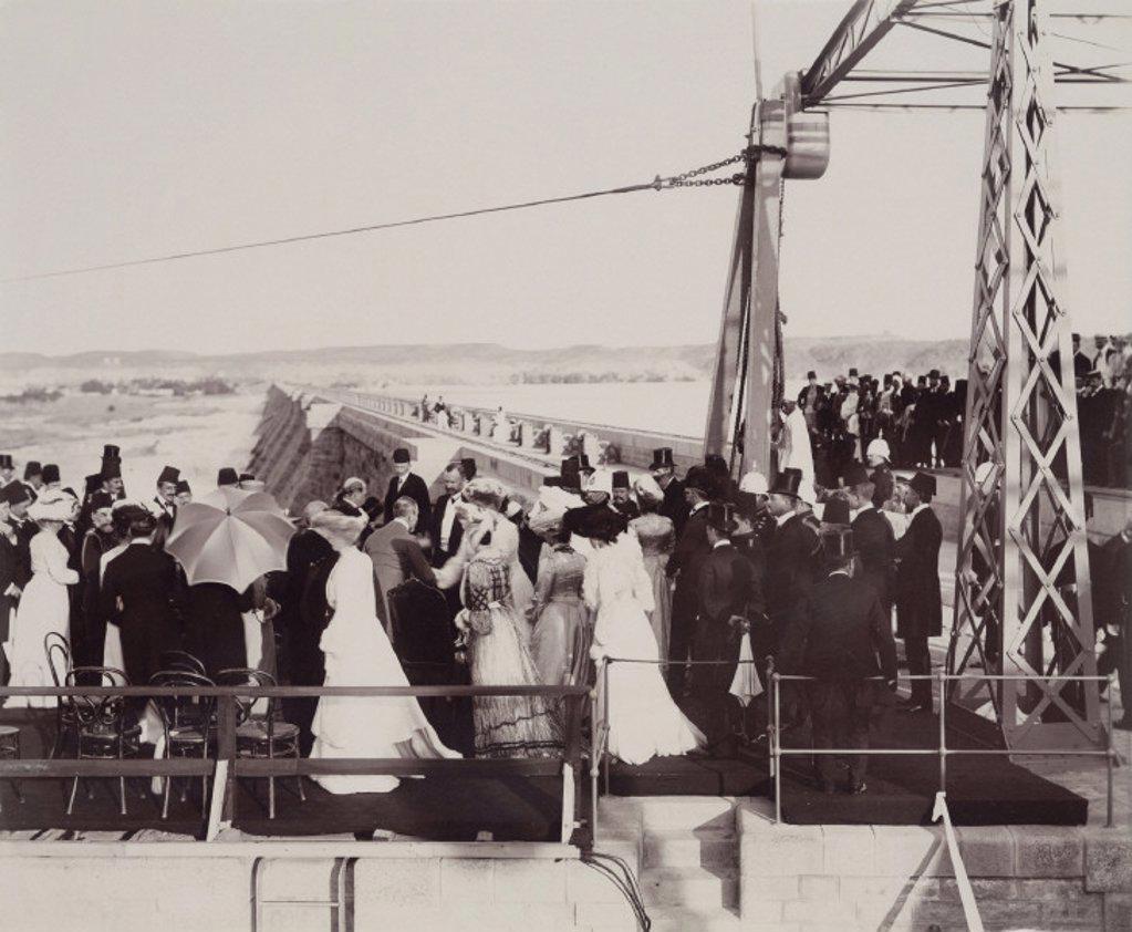 Stock Photo: 1895-24964 Opening ceremony of the Aswan Dam, Egypt, 1902.