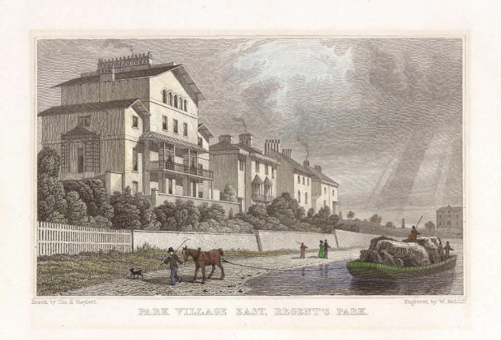´Park Village East, Regent's Park', London, 1827. : Stock Photo