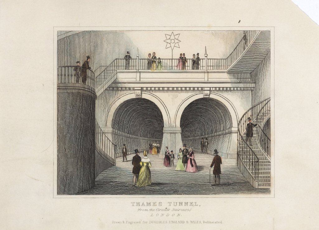 ´Thames Tunnel', London, c 1845. : Stock Photo