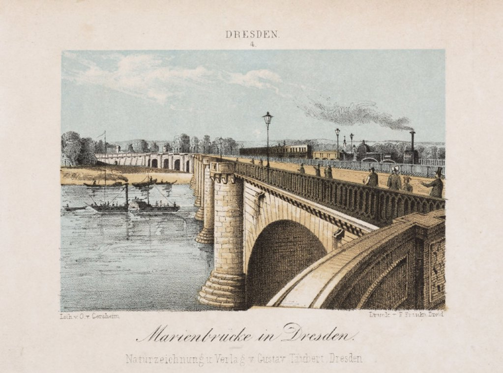 Stock Photo: 1895-25051 ´Marienbrucke in Dresden', Germany, c 1840.