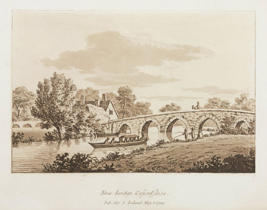 Stock Photo: 1895-25072 ´New-bridge, Oxfordshire', 1799.