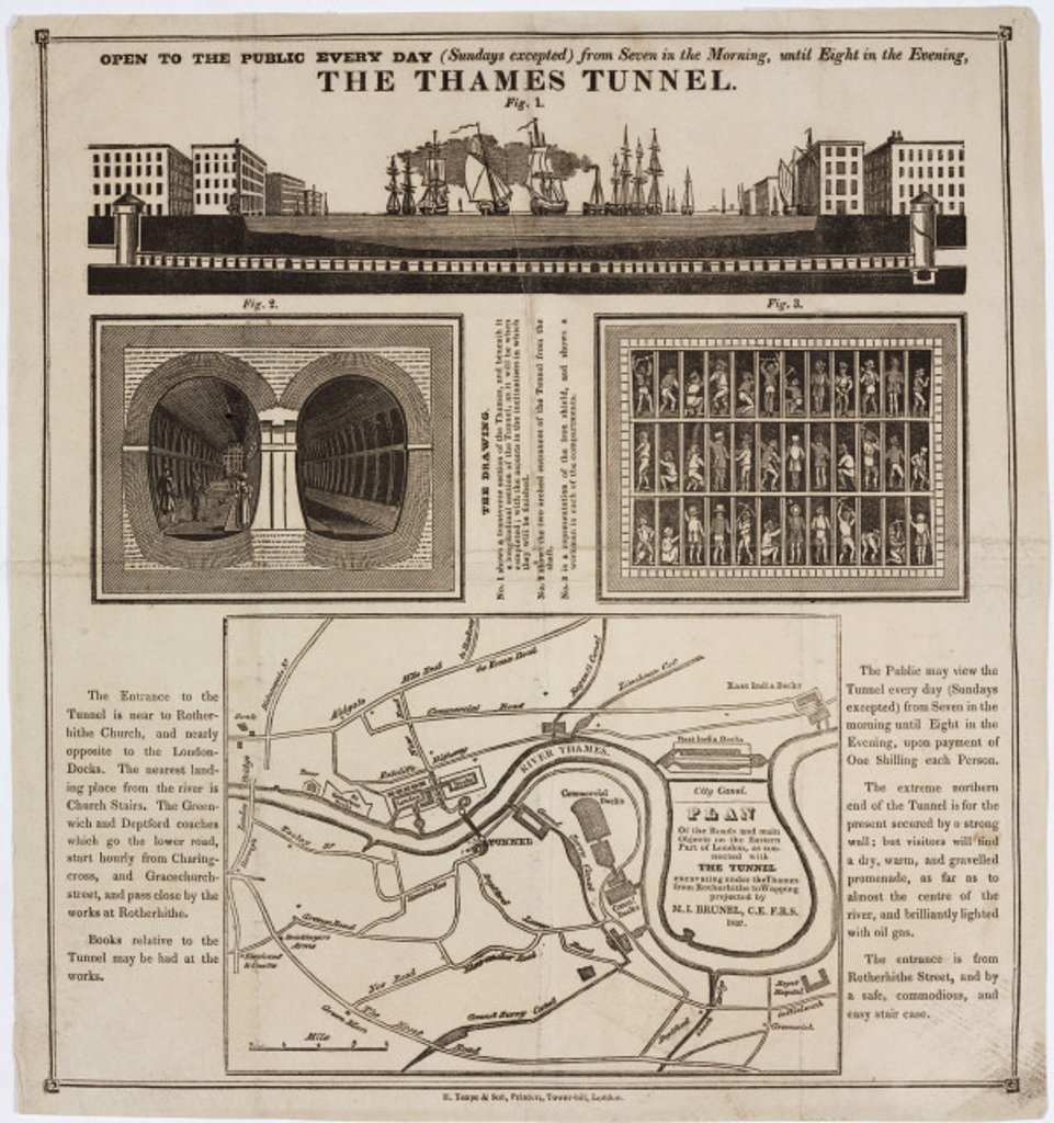 ´The Thames Tunnel', London, 1827. : Stock Photo