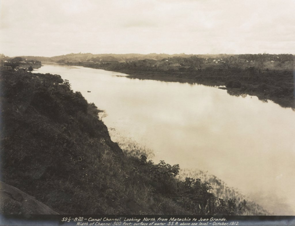 Construction of the Panama Canal, Panama, 1912. : Stock Photo