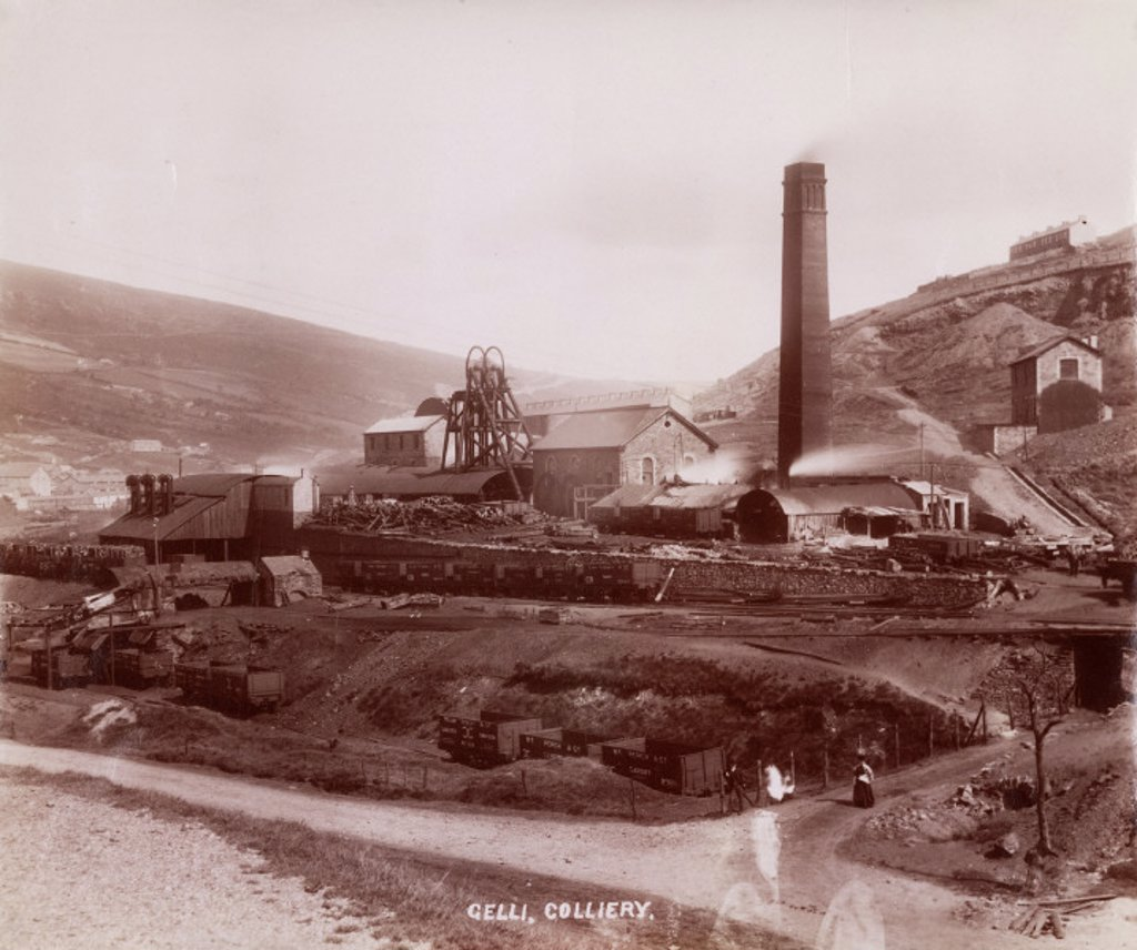Gelli Colliery, Ystrad, Rhondda Cynon Taff, South Wales, 1890-1895. : Stock Photo