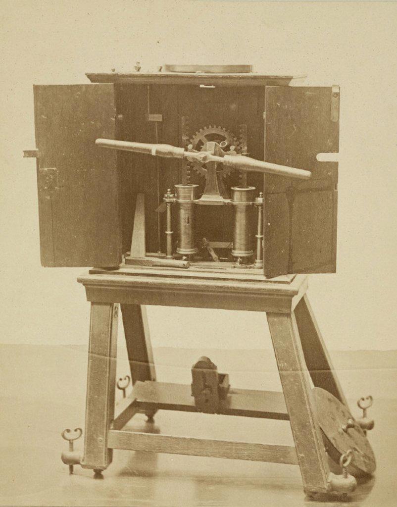 Stock Photo: 1895-25552 Gravesande's air pump, London, 1876.