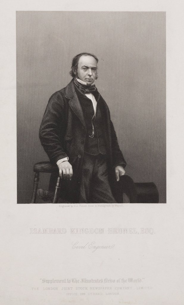 Stock Photo: 1895-25897 Isambard Kingdom Brunel, English civil engineer, c 1859.