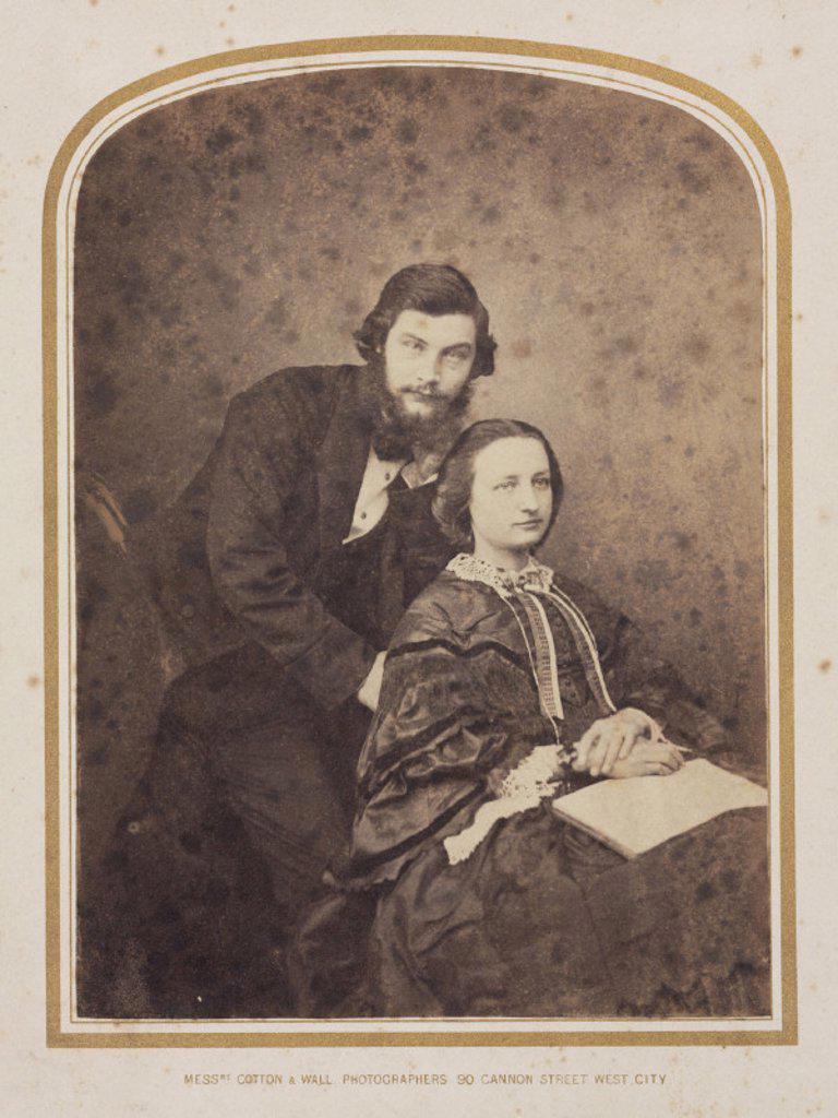 Sir William Henry Perkin, English chemist, 1870. : Stock Photo
