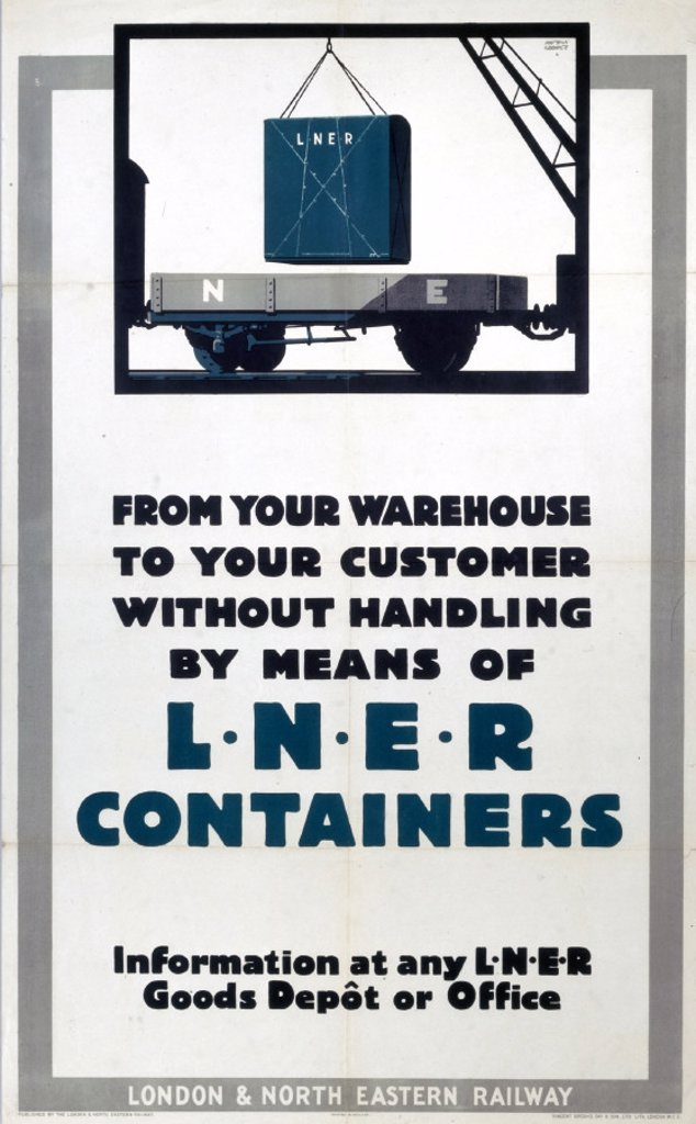 ´LNER Containers´, LNER poster, c 1930s. : Stock Photo