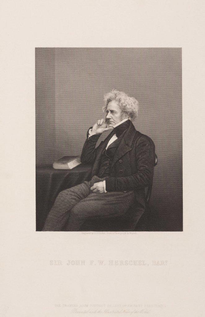 Sir John Herschel, English astronomer and scientist, c 1860. : Stock Photo