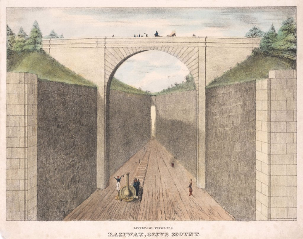 'Olive Mount', Liverpool & Manchester Railway, c 1830s. : Stock Photo
