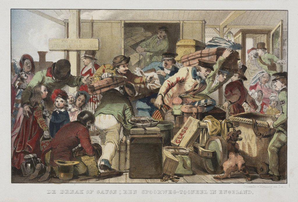 'Break of gauge', Gloucester, June 1846. : Stock Photo
