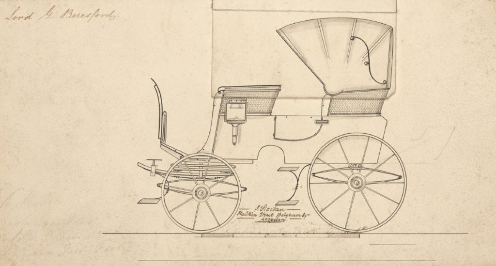 Lord Beresford's carriage, mid 19th century. : Stock Photo