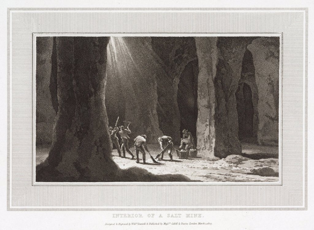 'Interior of a Salt Mine', 1807. : Stock Photo