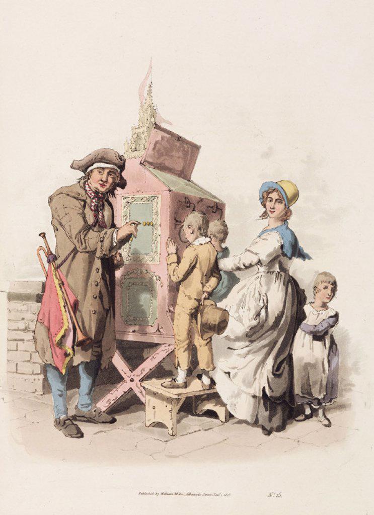 Stock Photo: 1895-26973 'Half penny showman', 1808.