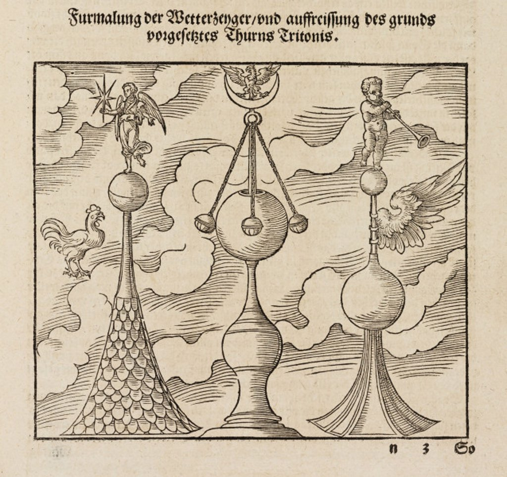 Stock Photo: 1895-28213 Ornaments for the tips of spires, 1548.