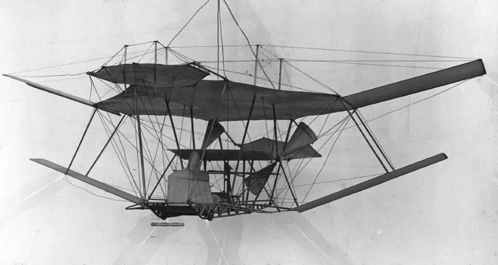 The Maxim flying machine, 1894. : Stock Photo