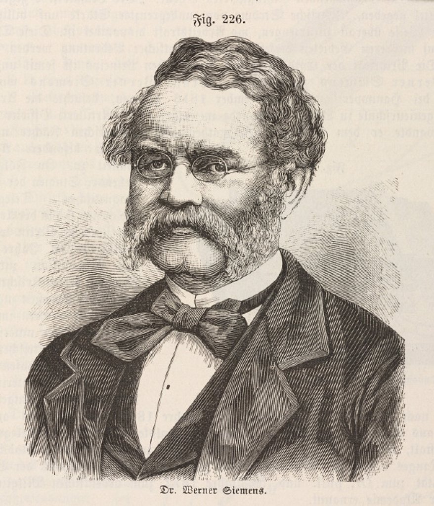 Ernst Werner von Siemens, German electrical engineer, mid 19th century. : Stock Photo