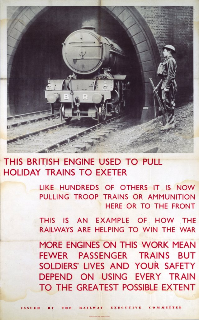Railway Executive Committee poster, 1939-1945. : Stock Photo