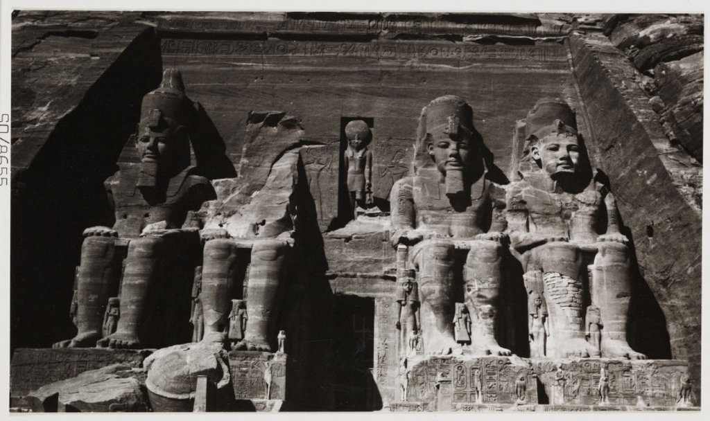 Abu Simbel, Egypt, c 1905. : Stock Photo