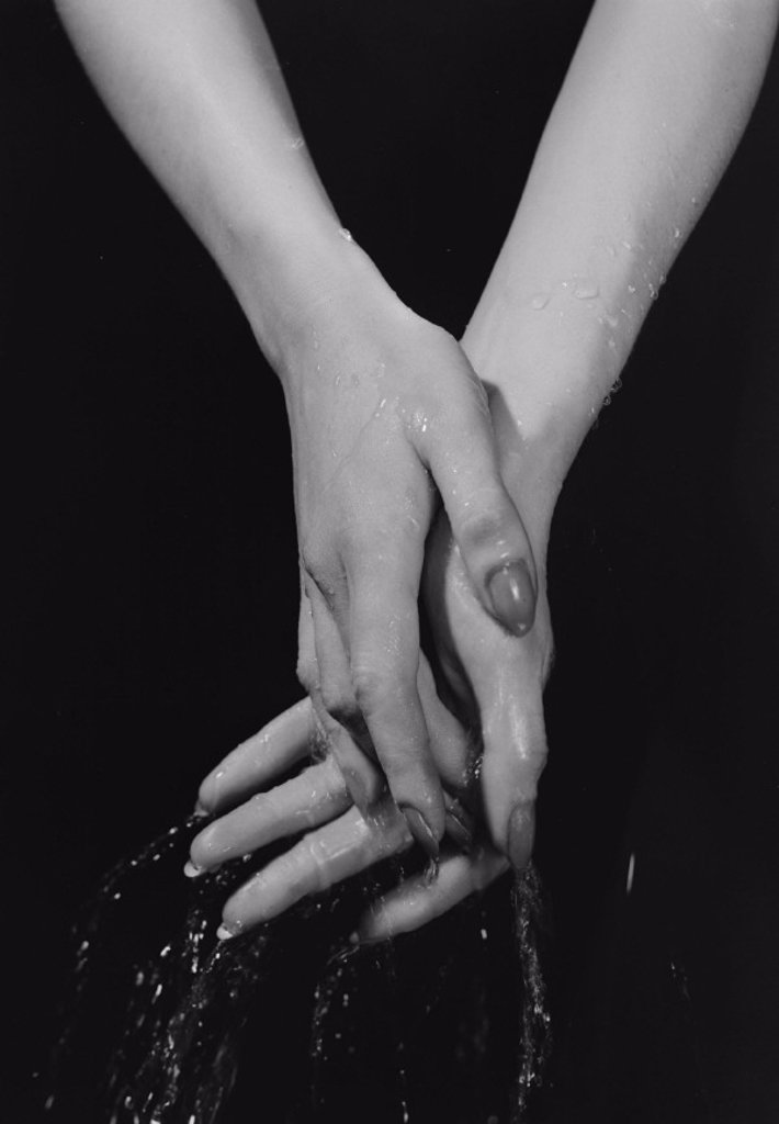 Washing hands, c 1955 : Stock Photo