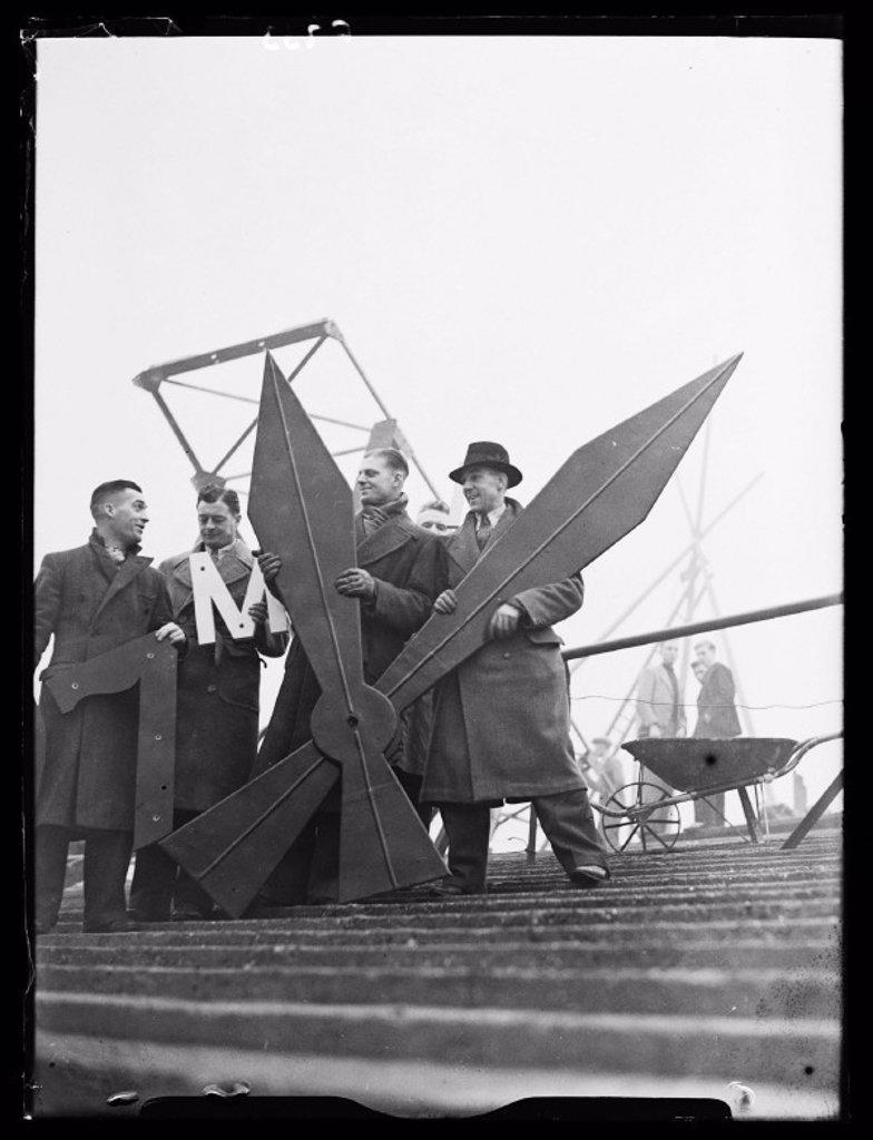 Stock Photo: 1895-31058 New clock at Millwall Football Club, 1937