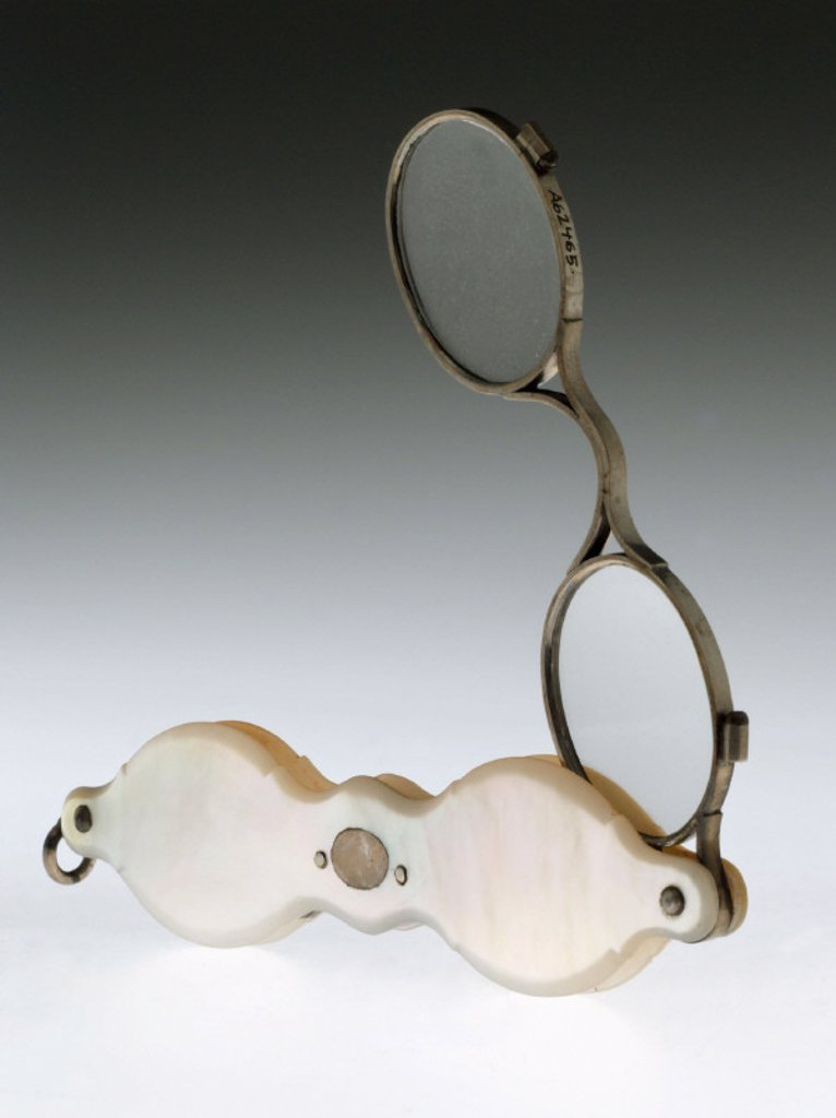Hand spectacles, French, 1790-1850. : Stock Photo