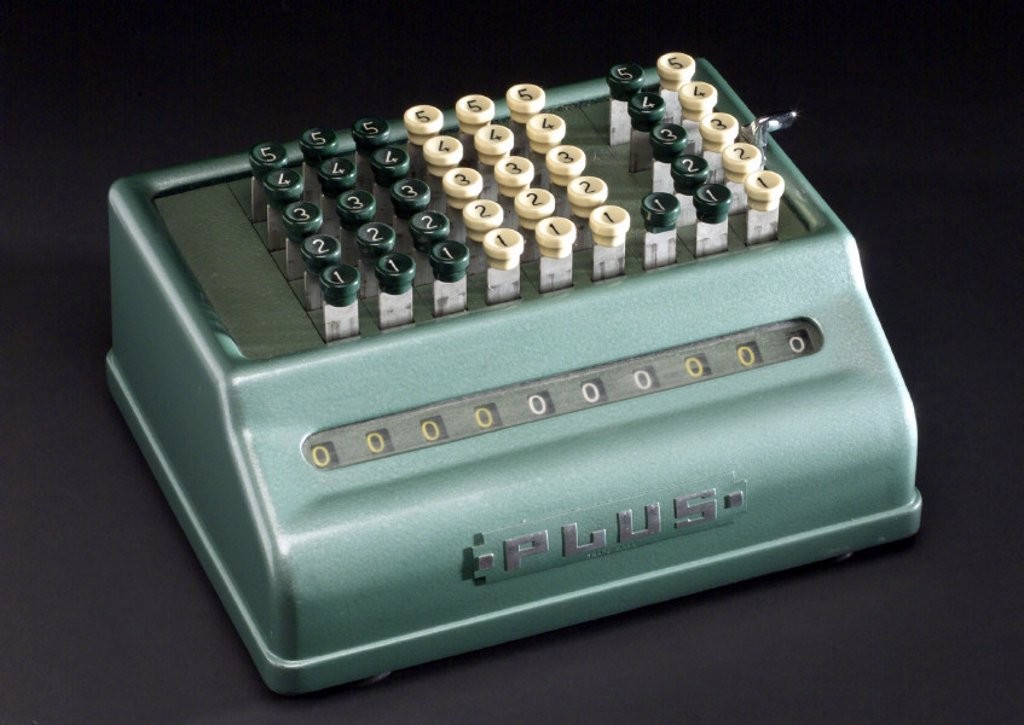 Stock Photo: 1895-31476 'Plus' calculating machine, c 1955.