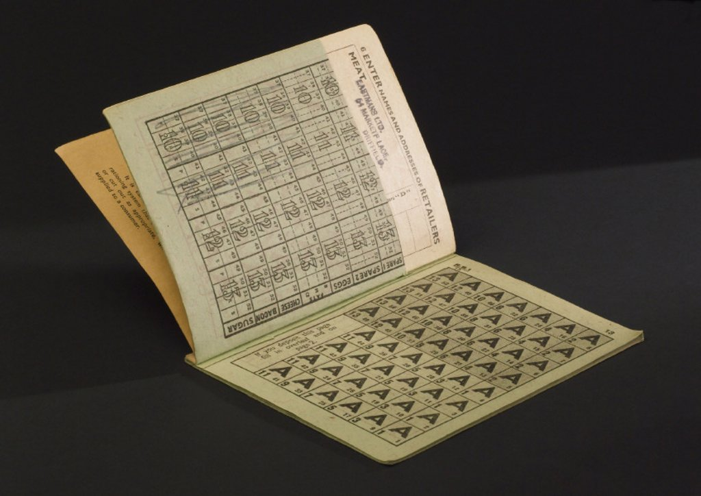 Stock Photo: 1895-31509 Ministry of Food ration book, 1952-53.